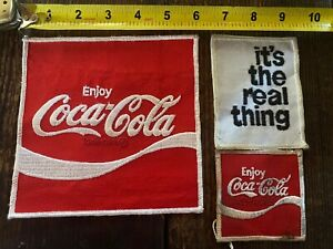 Large Coca Cola Patch set Back crest its the real thing drink soda