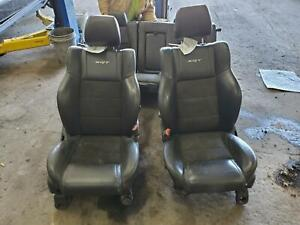 Jeep Grand Cherokee Full Seat Set Srt8 W o Air Bag Bucket Leather Electric