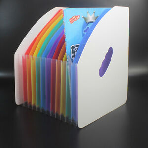 Paper Storage Multilayer Data Manage Clip File Basket Rainbow A4 Organ Clip Test