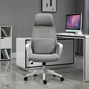 Vinsetto Office Computer Swivel Chair W Massage Cushion Adjustable Seat Grey