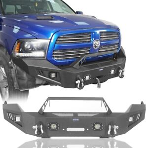 Discoverer Full Width Front Bumper W Winch Plate Fit 2013 2018 Dodge Ram 1500