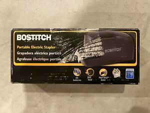 Bostitch Portable Electric Stapler 20 Sheets Ac Or Battery Powered Black