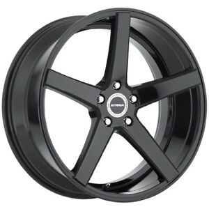 4 strada Perfetto 26x10 6x135 26mm Gloss Black Wheels Rims 26 Inch