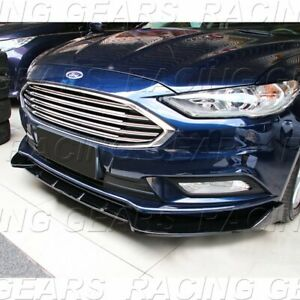 Fit 2017 2018 Ford Fusion Mondeo 3 Piece Painted Black Front Bumper Body Kit Lip