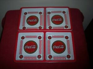 Coca-Cola Gibson Divided Square Melamine Tray Plates Set of 2 | 12