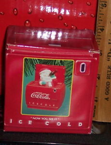 COCA COLA ENESCO NOW YOU SEE IT NOW YOU DONT LIMITED EDITION COLLECTIBLE ORNAMEN