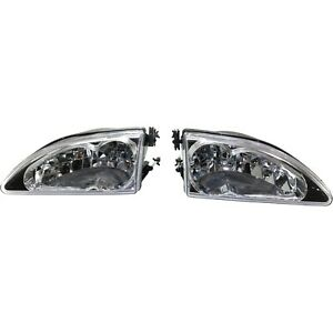 Headlight For 1994 1998 Ford Mustang Driver And Passenger Side