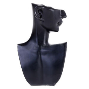 Necklace Jewelry Head Mannequin Bust Store Display Resin Material Black