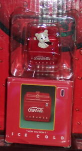 COCA COLA ENESCO NOW YOU SEE IT POLAR BEAR LIMITED EDITION COLLECTIBLE ORNAMENT