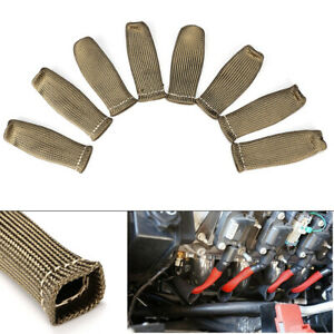 2500 Titanium Spark Plug Wire Sleeve Boot Heat Shield Protector For Ls1 Ls2 Ls4