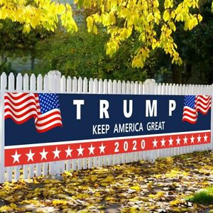 Trump 2020 Banner Flag Garden Yard Sign For Home Decorative House Lawn Sign