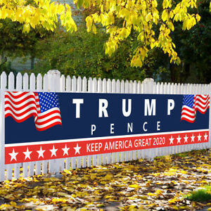Trump Pence 2020 Banner Flag Garden Sign For Home Decorative House Lawn Sign