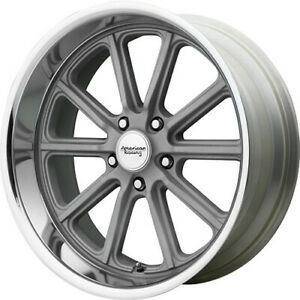4 Staggered 20x8 20x9 5 American Racing Vintage Rodder Gray 5x5 0 0 Wheels