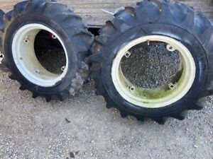Farmall International 340 Utility Tractor Ih Rims Rim 12 4 X 24 Tires