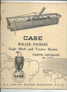 Case Roller Packers Eagle Hitch And Tractor Drawn Parts Catalog No D 391