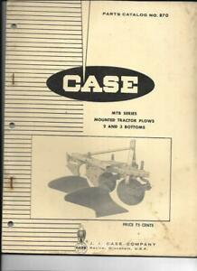 Case Mtb Series Mounted Tractor Plows 2 And 3 Bottoms Parts Catalog No 870