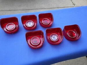 New 1968 Chevrolet Chevy Impala Belair Biscayne Tail Light Lamp Base Lens Lot