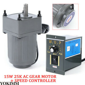 110v Ac Gear Motor Electric variable Speed Reduction Controller Adjustable 15w