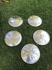Vintage Classic Antique Buick Opel Dog Dish Hubcaps Wheel Covers Center Caps