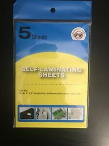 5 Pack Of Self Laminating Sheets Easy To Use 4x6 No Tools Needed For Id Card Et