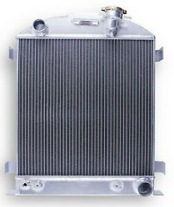 3 row For Ford 1932 Chopped Hot Rod W chevy 350 V8 Engine Aluminum Radiator 44mm