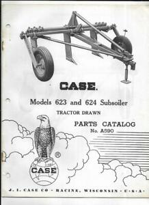 Case 623 And 624 Subsoiler Tractor Drawn Parts Catalog No A590