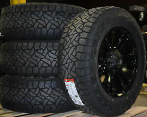 20x9 Fuel D560 Vapor Black Wheels Rims 32 At Tires Package 5x150 Toyota Tundra