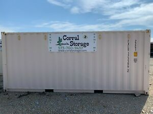 Metal Shipping And Storage Container New Single use 8 X 20 Tan Color