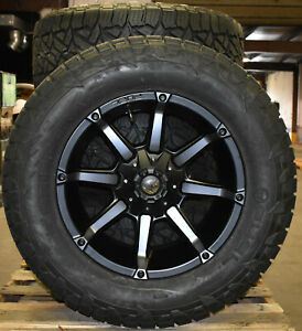 20x10 Fuel D556 Coupler Black Wheels 35 At Tires 8x170 Ford Excursion F250 F350