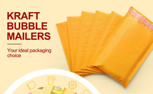 Yellow Kraft Bubble Mailers Padded Envelopes Shipping Size 4x8 6x10 9x12 11 X16