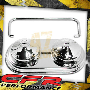 Chevy Gm Oval Steel Master Cylinder Cover single Bail Chrome