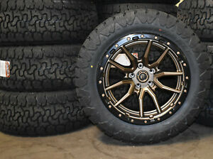 20x10 Fuel D681 Bronze Rebel Wheels Rims 33 At Tires 8x170 Ford Excursion F250