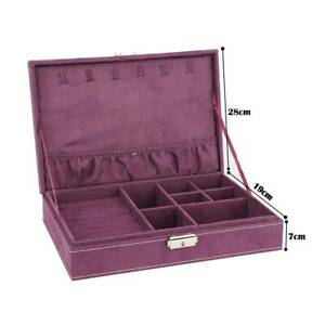 Ring Necklace Bracelet Jewellery Vintage Storage Box Display Case Organiser
