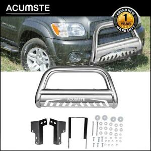 Chrome Steel Bull Bar Front Bumper Grille Guard For 2016 2020 Toyota Tacoma