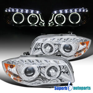 For 2007 2013 Bmw E82 E88 128i 135i Led Halo Projector Headlight Replacement
