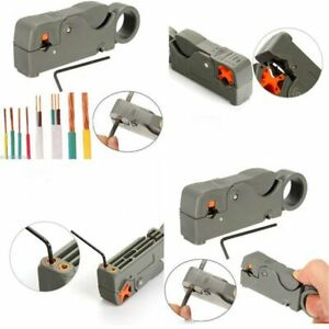 Rotary Coaxial Double Blades Cable Cutter Pliers Automatic Rg6 59 Wire Stripper