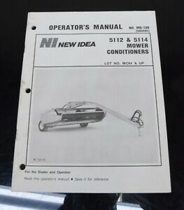 Avco New Idea 5112 5114 Mower Conditioners Owners Operator s Manual Md 109