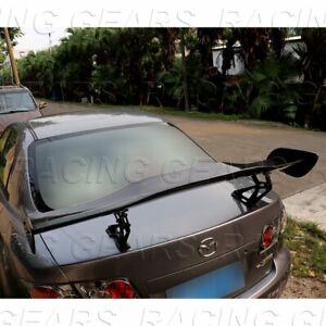 Universal 57 Dragon 1 Style Carbon Style Abs Gt Trunk Adjustable Spoiler Wing