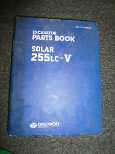 Doosan Daewoo Solar 255lc v Excavator Parts Catalog Manual