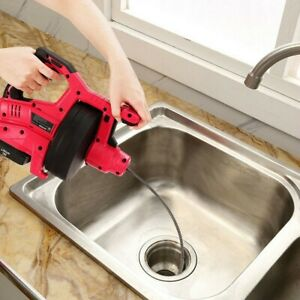 Cordless Plumbing Cleaner Drain Snake Auger Drill Removes Hair And Clogs