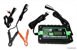 4 Amp Battery Charger Maintainer 6v And 12v Automotive Batteries Tool Tools