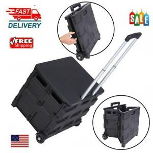 80lbs Cart Folding Dolly Collapsible Trolley Push Hand Truck Moving Warehouse