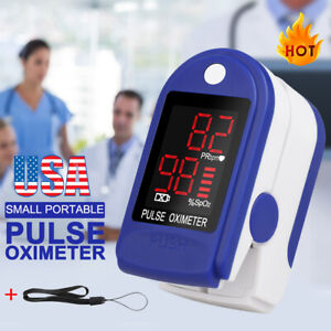 Pulse Oximeter Fingertip Blood Oxygen Spo2 Monitor Pr Pi Heart Rate Fda Ce Fast