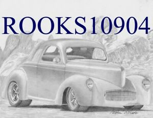 1941 Willys Coupe Classic Car Art Print