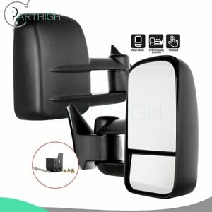 For Tow Mirror For 1992 Chevy K1500 Mirrors Manual Telescopic Left right Side