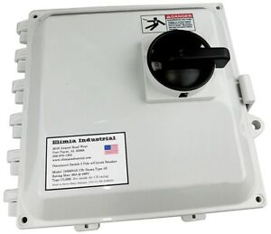 50 Amp Fused Circuit Breaker Disconnect Switch 208 230 480v Nema 4x Ul Listed