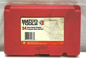 Matco Tools 34 Piece Quick Change Fastener Drive Tool Set Missing Magnetic 1 4