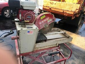Edco 14 Masonry brick Concrete Saw 5 5 Hp Honda Model Hss 14