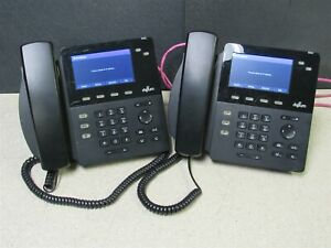 Lot Of 2 Digium D62 Ip Office Phones W Stand And Handsets 1teld062lf