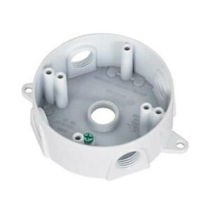 Hubbell White Weatherproof Round Outlet Box